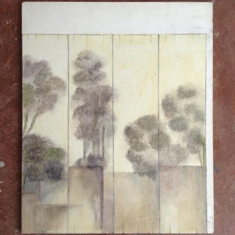 Pintura decorativa bosque arboles mural madrid toledo arte