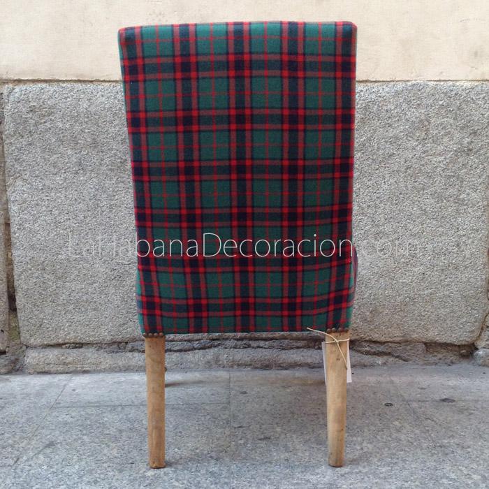 3 sillon vintage silla cuadros escoceses butaca descalzadora rustico estilo chic masculina 3