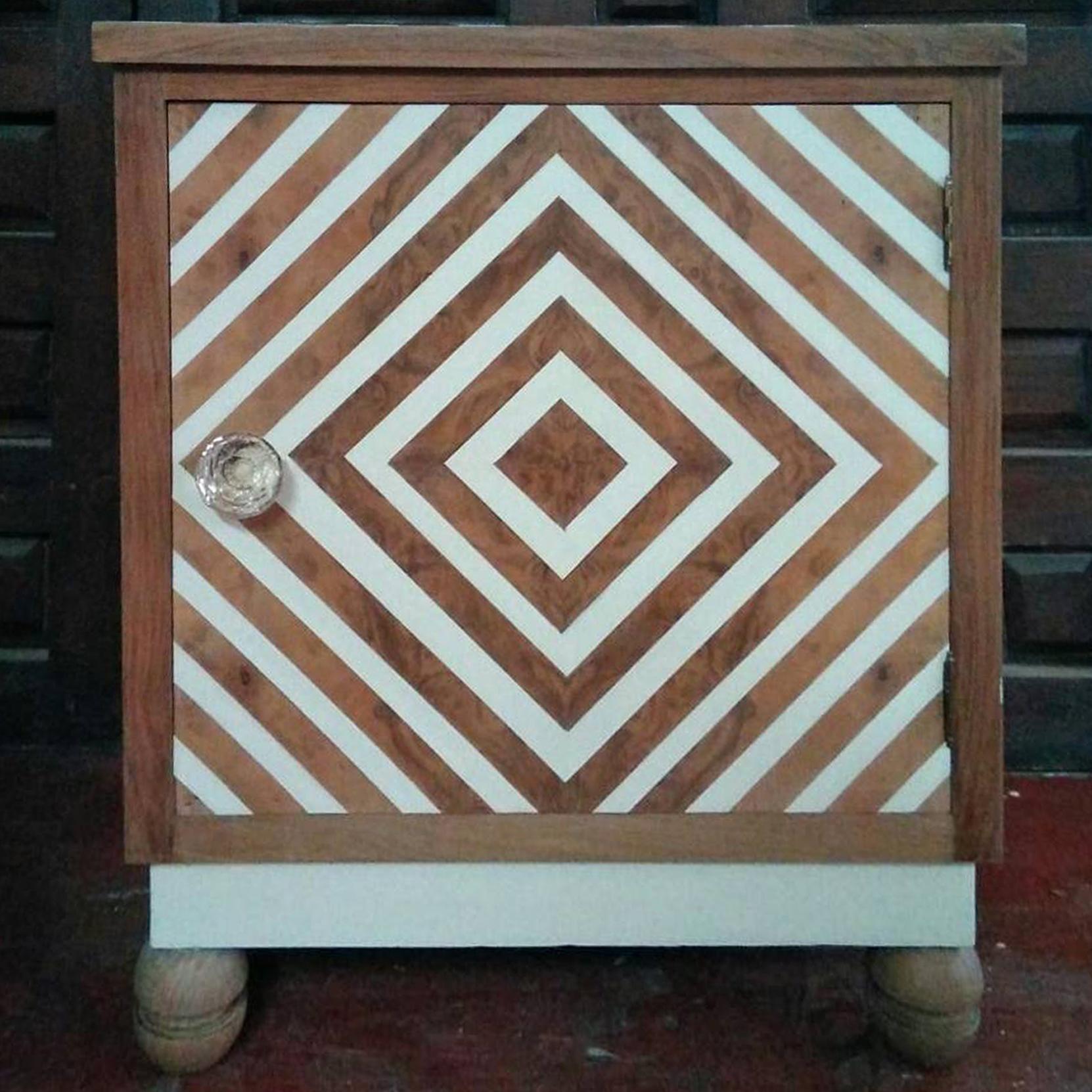 Mesilla rayas reciclada pintura
