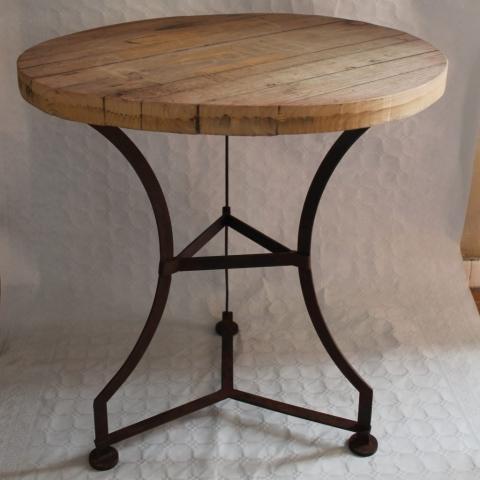 velador redondo hierro madera mesa auxiliar decoracion toledo madrid