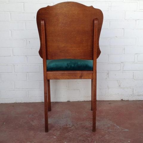 pareja sillas belgas estilo deco madera haya roble terciopelo vintage antiguas 4
