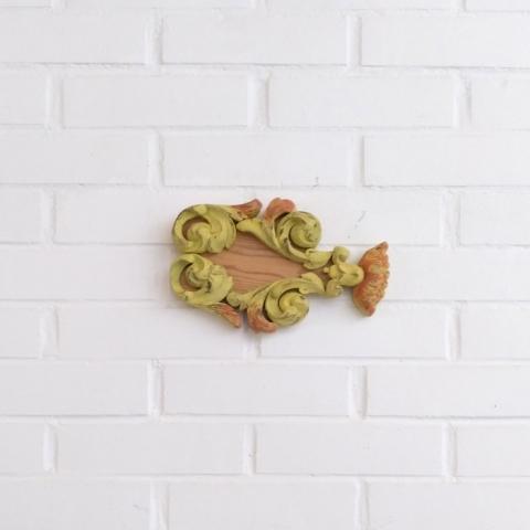 pez amarillo pastel decoracion pared colgar madera natural cruda infantil dormitorio niños handmade hecho a mano