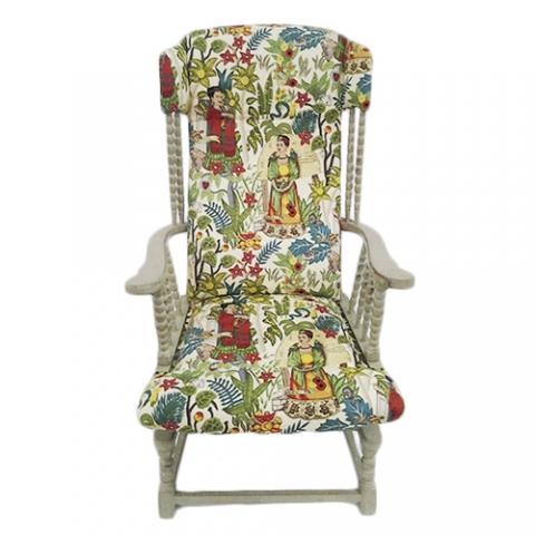 butaca tela tapizada original frida transformacion reciclaje restauracion muebles mobiliario vintage antiguedades decoracion interiorismo madrid toledo