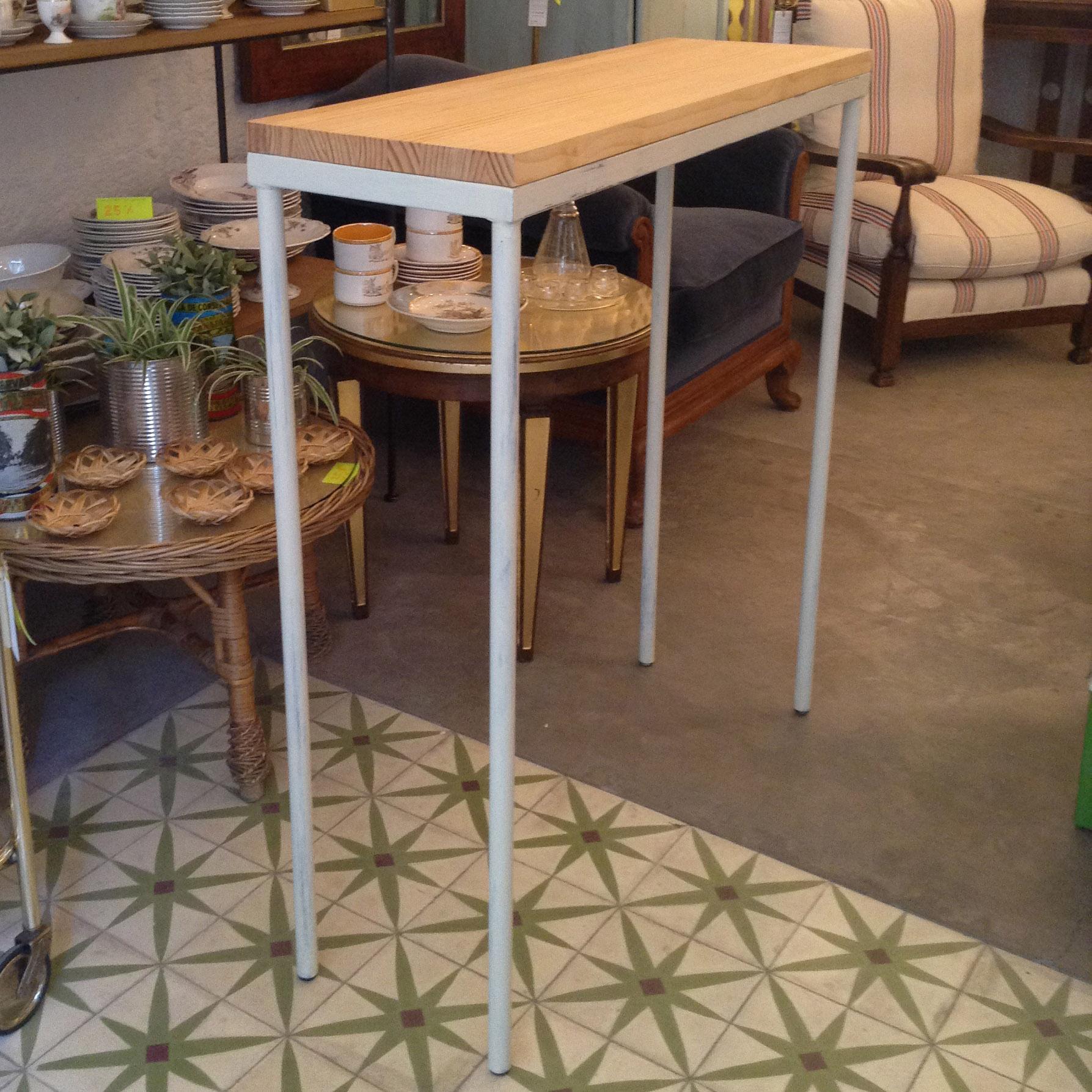 mesa barra cocina auxiliar alta solucion fondo estrecha a medida encargo decoracion