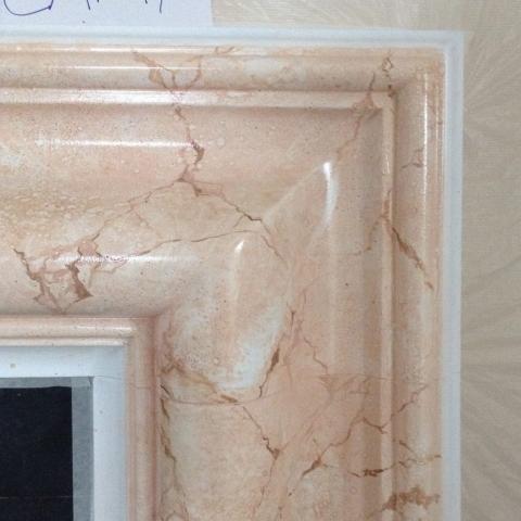 chimenea marmol pintura decortiva imitacion