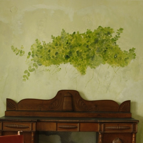pintura decorativa vegetacion hojas mural