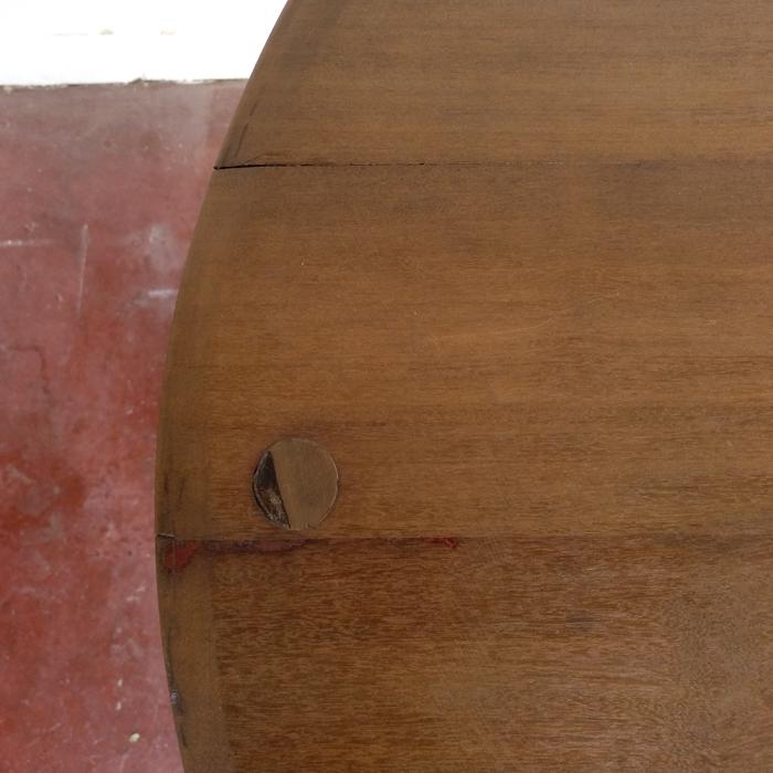 velador mesa redonda madera hierro vintage industrial madera natural roble pequeña 4